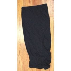 Humanoid Soft 100% Cotton Maxi Skirt Side Ruched